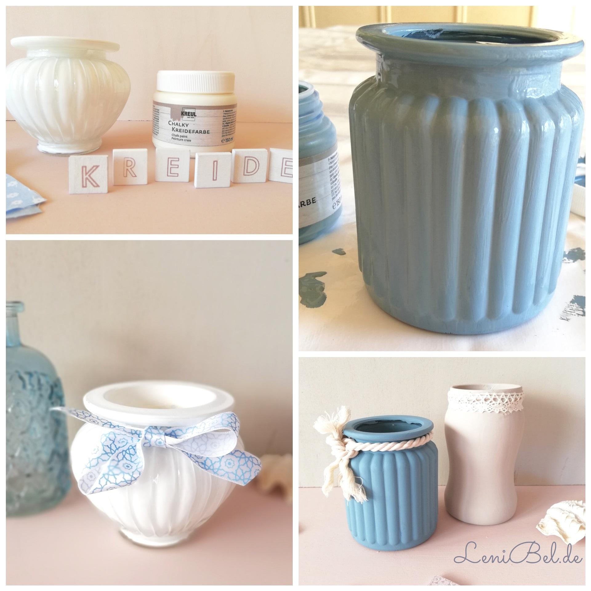 Upcycling mit Kreidefarben - Gläser dekorieren