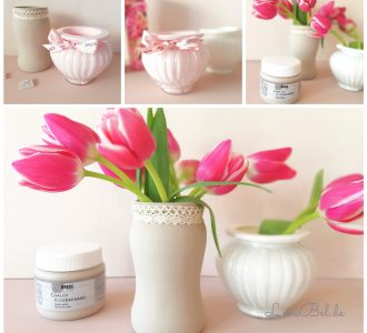 Upcycling mit Kreidefarben - Blumenvase