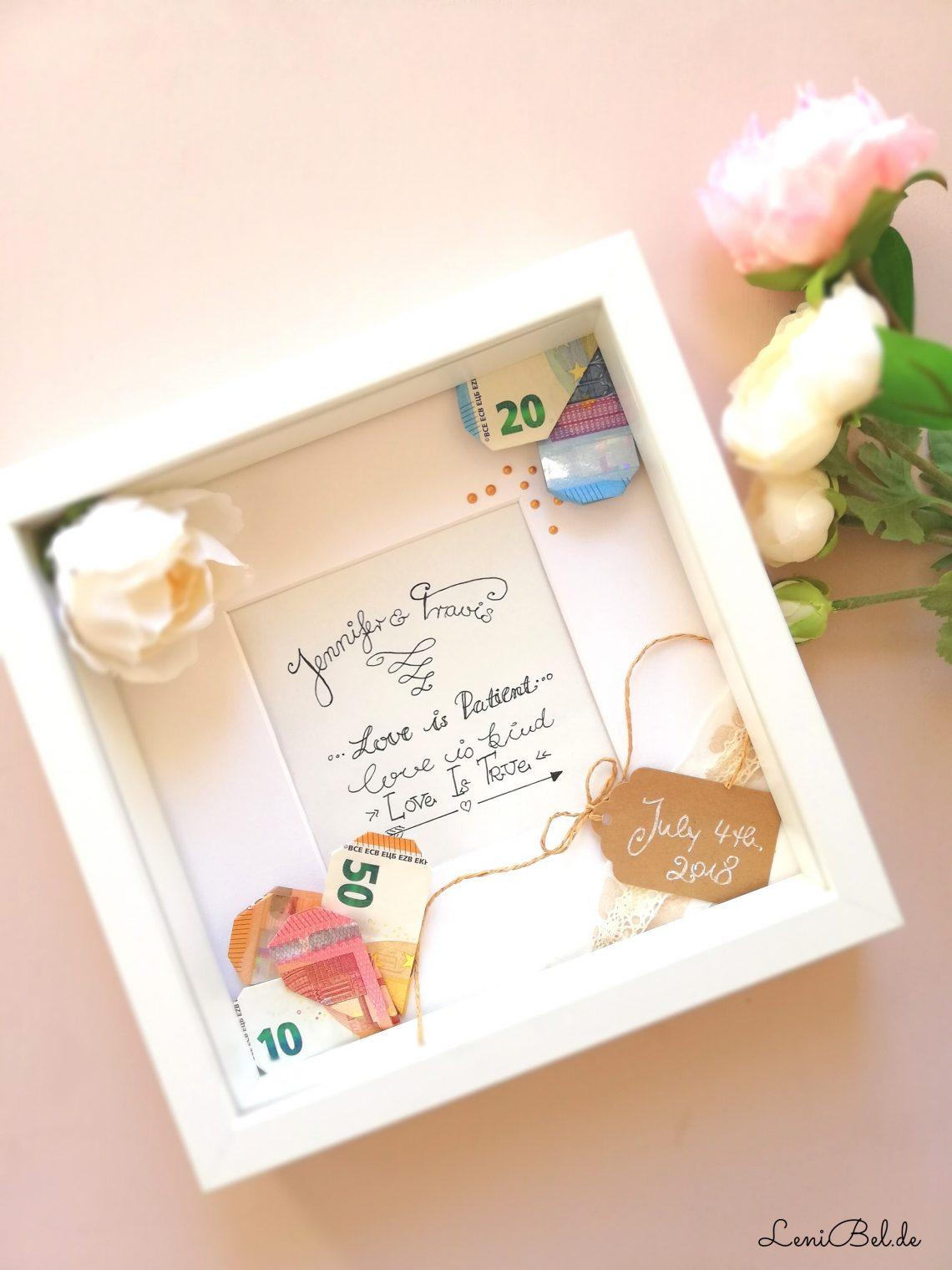 Geldgeschenk zur hochzeit lenibel for Hochzeit geldgeschenk hohe