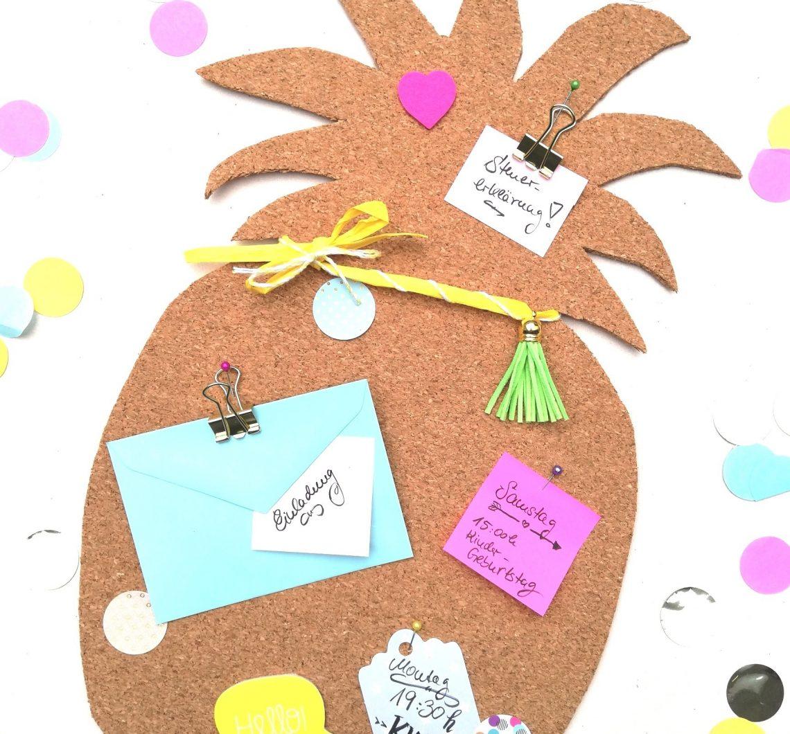 Kork Pinnwand Ananas