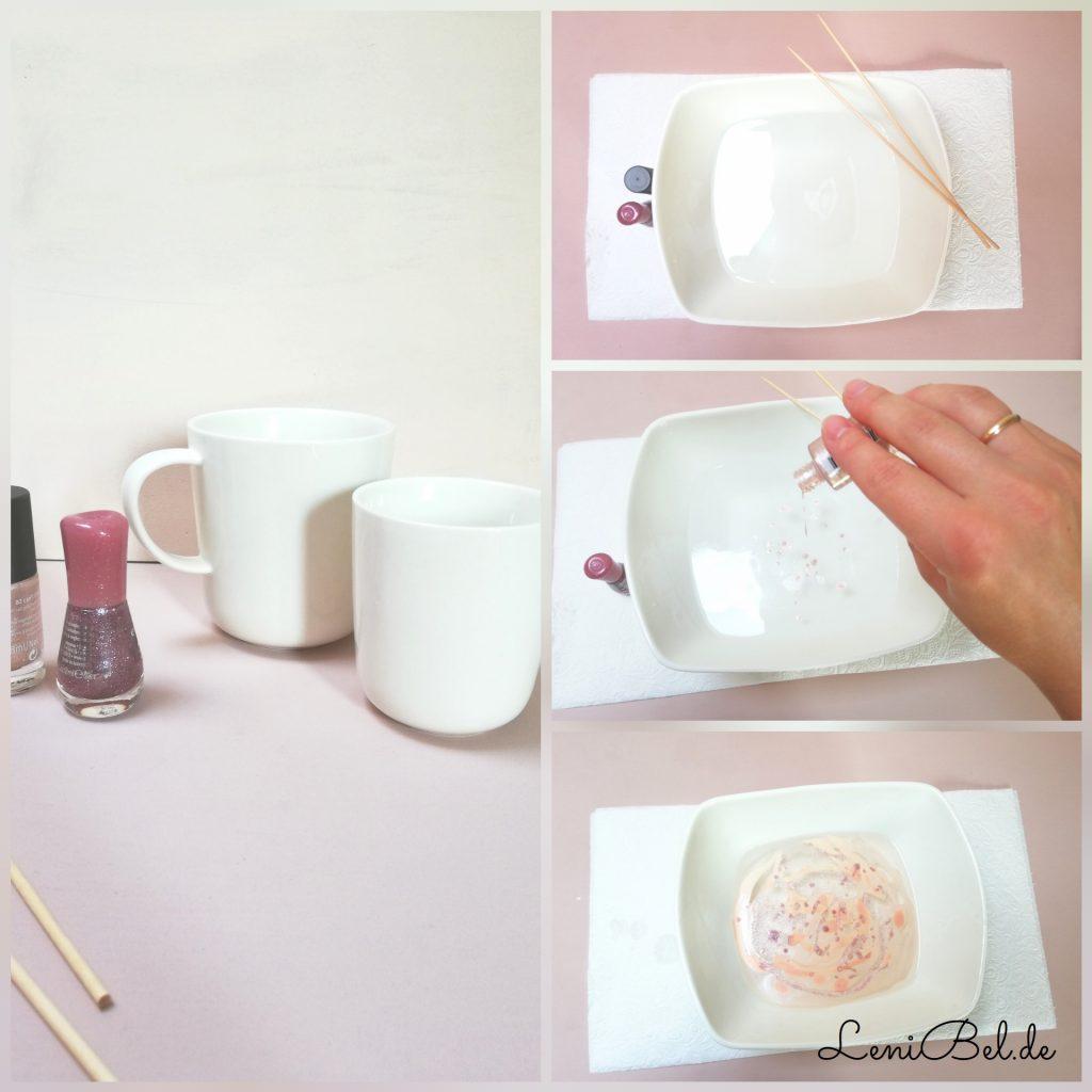 marmorieren mit nagellack
