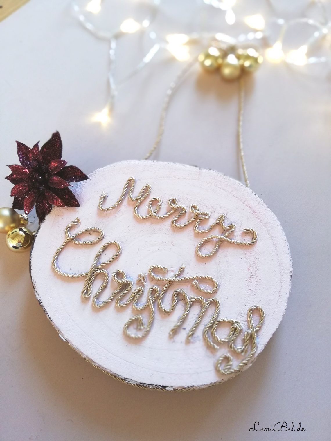 Weihnachtliche Wand Deko Mit Lettering Selber Machen Lenibel