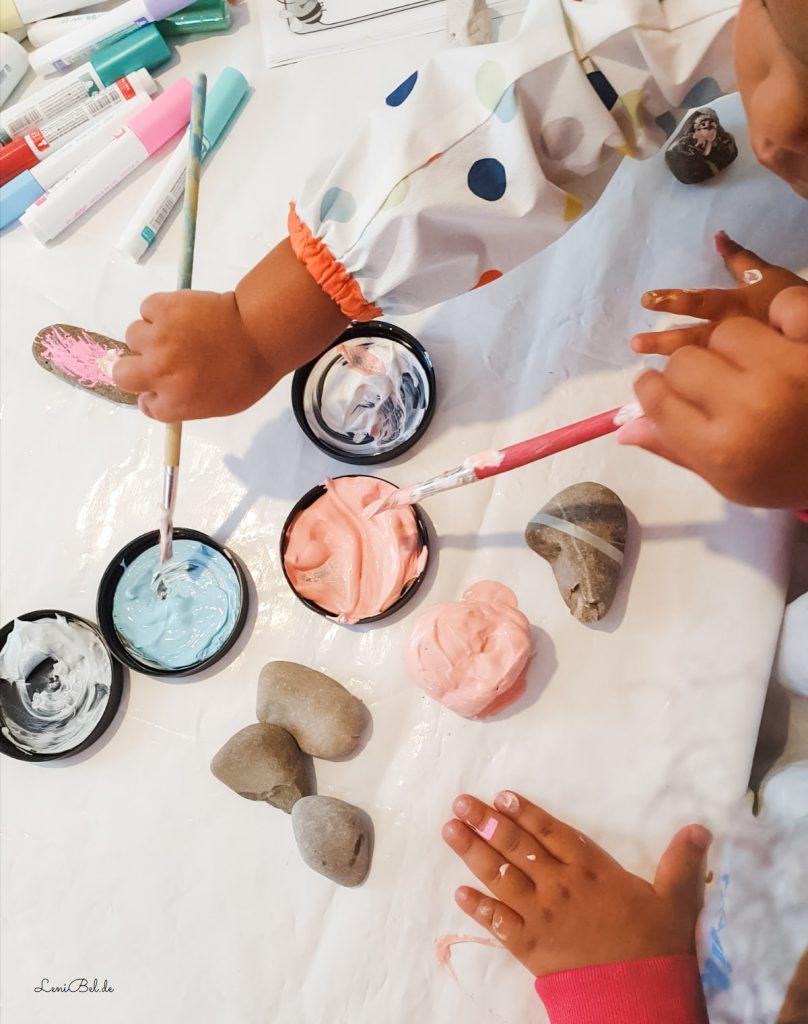 Steine bemalen mit Kindern