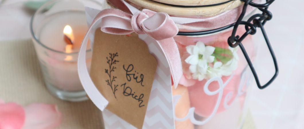 Wellness Geschenkidee im Glas – zum Geburtstag, Muttertag und co.