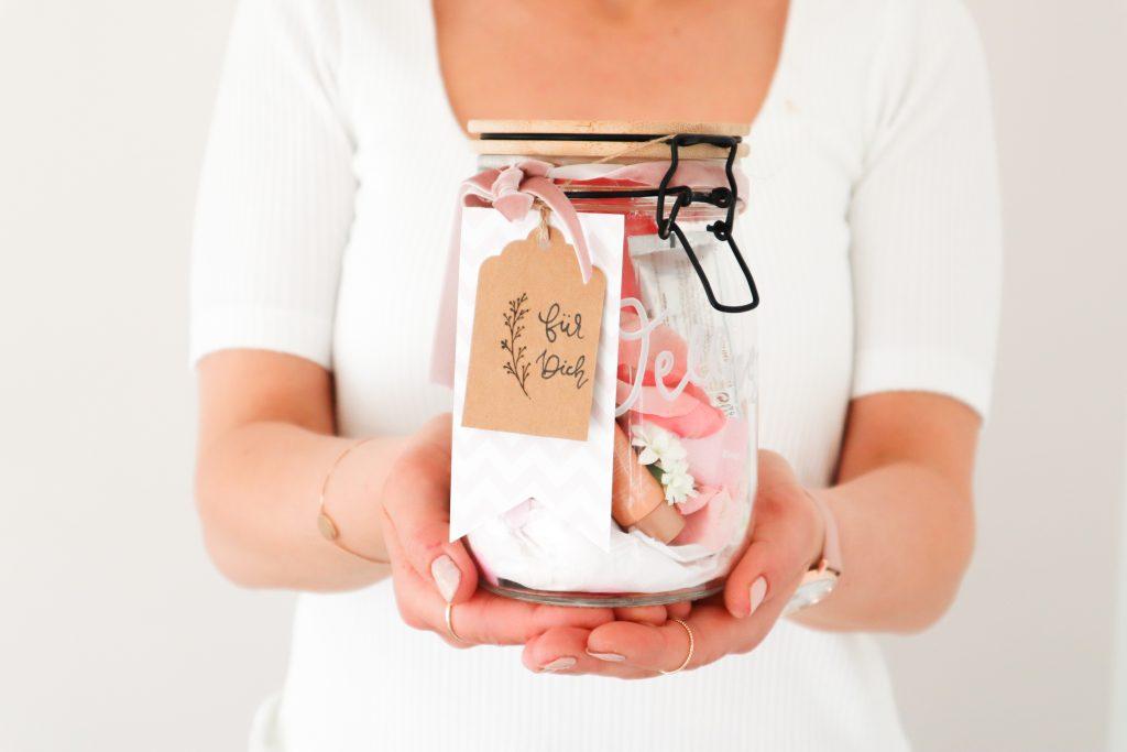 Geschenk im Glas