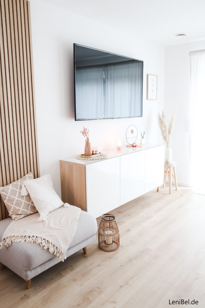 Wohnzimmer Holzpaneel